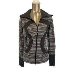 Lululemon Gray Stride Full Zipper Jacket SZ 4